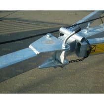Dissel WEGKLAPBAAR 70-70 mm vierkant 2,5 meter