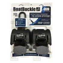 Boatbuckle ratelspanbanden per set / 1200 kg capaciteit