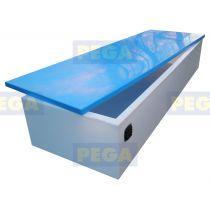 Sailbox Afmeting 400 x100 x 50 cm HDPE / Vlak deksel