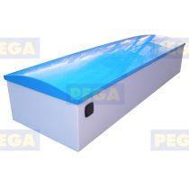 Sailbox Afmeting 400 x 100 x 50 cm HDPE / Bol deksel