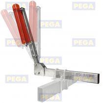 Verstelbare zijbegeleiding incl. polyurethaan rol / per set