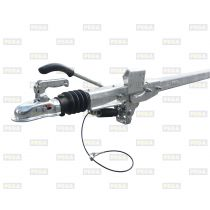 Oplooprem / Buis dissel / BPW 1350 kg 70-70-4 mm 2300 mm lang