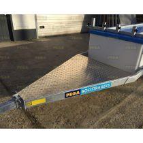 Aluminium traanplaat voorzijde CK boottrailer