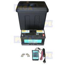 Komplete aansluitset voor elektrische lier incl. accu / druppellader / opbergbox